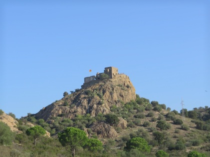 Castel with Catalan flag