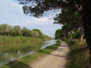 Beautiful bike road after Port la Nouvelle
