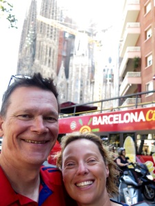 Arrival in Barcelona with Sagrada Familia in the background