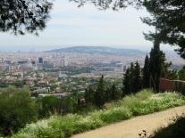 Carreterra de les Aiguës - view on Barcelona