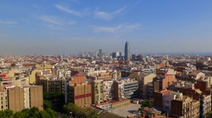 View on Barcelona from Sagrada Familia Tower