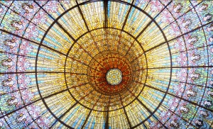 Ceiling light in Palau de la Musica