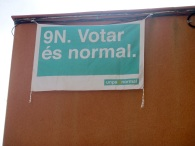 """""""It is normal to vote"""" Catalans advertising for independence vote on 9th November 2014"""