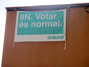 """It is normal to vote""  Catalans advertising for independence vote on 9th November 2014"