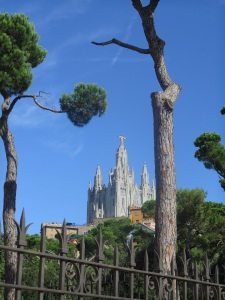 View to Tibidabo from Furnicular