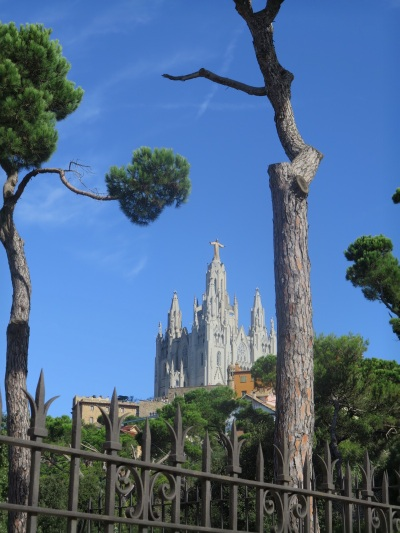View to Tibidabo from Funicular