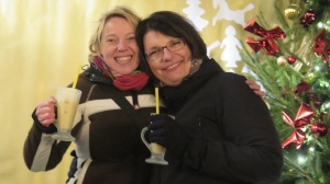 Claudia and Martina with Eggnog (Verpoorten), Christmas Fair 2014